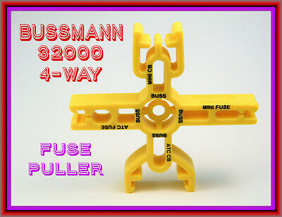 """Fuse Puller, Bussmann® 32000, Bright-Yellow """"Four-Way"""" Puller - - Great Item !"""