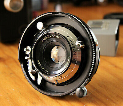 MAMIYA PRESS 65mm LENS w/FINDER - VERY GOOD CONDITION.