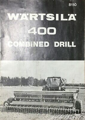 Wartsila 400 Combined Drill Parts List & Instructions