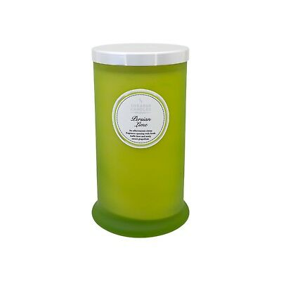 NEW! Shearer Candles Persian Lime Scented TALL Glass Jar Candle With Silver Lid