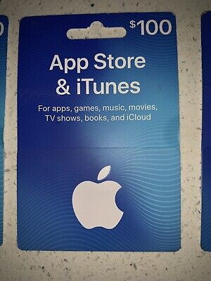 $100 Apple App Store & iTunes Gift Card