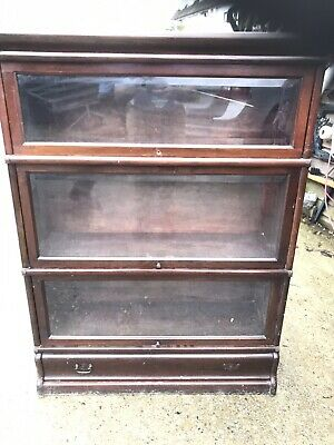 Vintage / Antique GLOBE-WERNICKE Oak Lawyers Barristers Stacking Bookcase CS S90