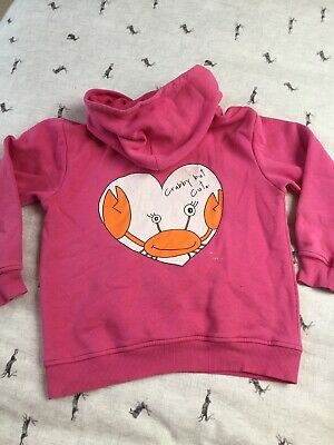 Pink Hoodie Girls Age 9 10 Crabby But Cute