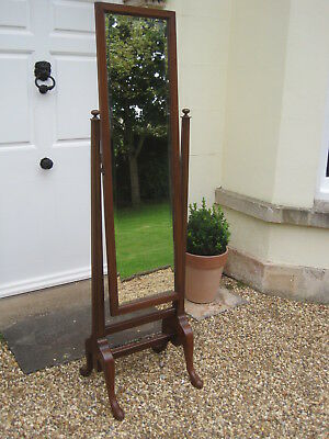 Good Quality Vintage Cheval Mirror in the Georgian Manner