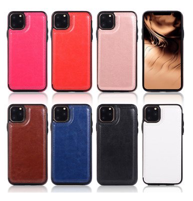 Leather Flip Magnetic Wallet Card Holder Case Stand For iPhone 11/ 11 Pro Max