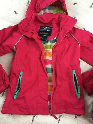 Tresspass Girls Pimk Rain Coat Age 7/8 Worn Twice Only