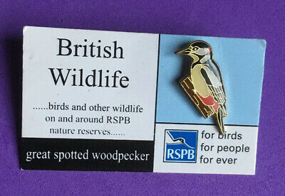 00814 RSPB Pin Badgegreat spotted woodpecker GNAH