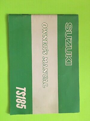 1978 Suzuki TS185 Owners Manual NEW