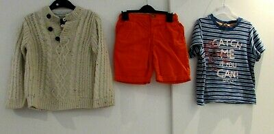 Boys Bundle Age 2-3 Years Shorts T-Shirt & Jumper M&S Rebel Good Condition