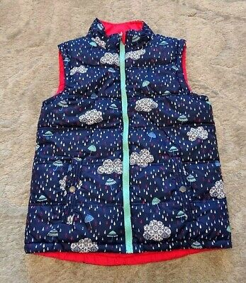 Fat face reversible gilet girls age 10/11 years *vgc*