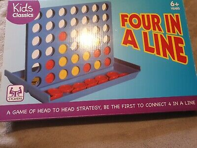 Connect Four In A Row 4 In A Line Board Game Kids Children Educational Toys Gift