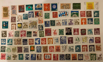 100 German Postage Stamps. A Mixed Bag. All Different All Used. Germany SJ181