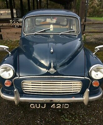 GREY STITCHING FITS MORRIS MINOR 1000 55-71 2X SUN VISORS LEATHER COVERS ONLY