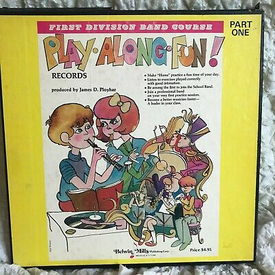 First Division Band Course Play Along Fun Records Vinyl LP Belwin Mills