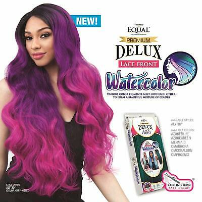 """Freetress Equal Lace Front Wig Premium Delux Aly 30"""" (Water Color)"""