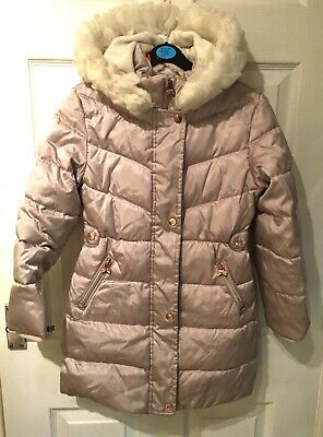 Girls Designer TED BAKER Pearlised Down Feather Padded Parka Age 9 BARELY WORN!