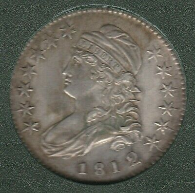 1812/1 Small 8 O-102 R-2 Capped Bust Silver US Half Dollar