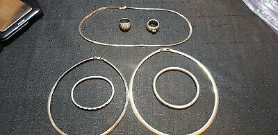 Sterling Silver Lot, Rings, Braclets, Necklaces 120grams
