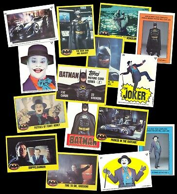 Batman Movie 2Nd Series - A Topps 1989 Set + Sticker Set + Original Wrapper Set