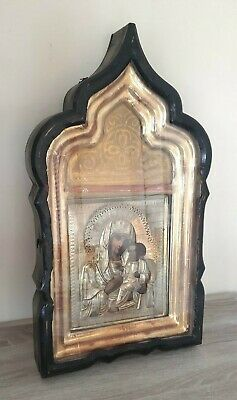 Antique Russian Imperial Icon Virgin of Tikhvin 19th century.