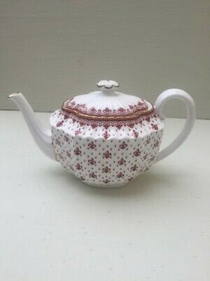 Spode Fine Bone China Made In England  Fleur De Lys Red Large Tea Pot