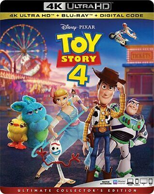 Toy Story 4 4K Ultra HD + Blu-Ray + Digital Code With Slip Cover NEW SEALED