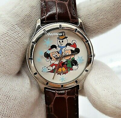 """MICKEY & MINNIE MOUSE, Christmas,""""Cast"""" 3D Snowflakes, Cute, Unisex/WATCH 969"""
