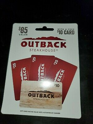 $85 Outback steakhouse gift card. Verified Balance w/Free Shipping!