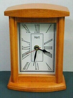 Kent Mantle Clock Solid Wood, Beautiful Light Oak - Excellent Cond - Never Used
