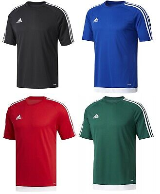 New Boys Junior Kids Adidas Estra Logo T-Shirt Top Football Soccer Sports