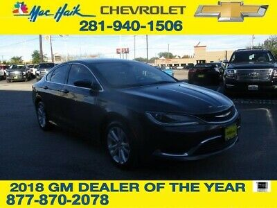 2015 Chrysler 200 Series Limited 2015 Chrysler 200 Limited 48,145 Miles Granite Crystal Metallic Clearco Sedan 2.