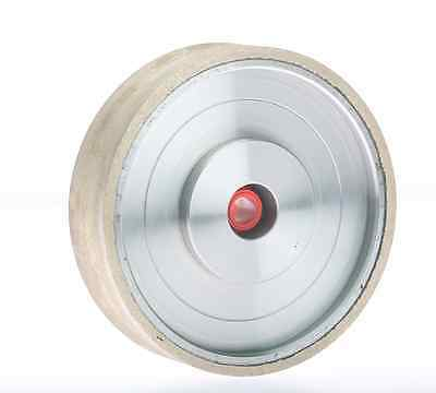 "8""x1"" 100Grit Lapidary Cabbing Glass Metal Bonded Diamond Sanding Wheel"