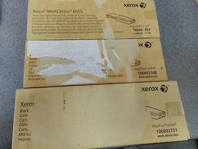 Xerox Workcentre 6655 set of 3 toners for a WC6655
