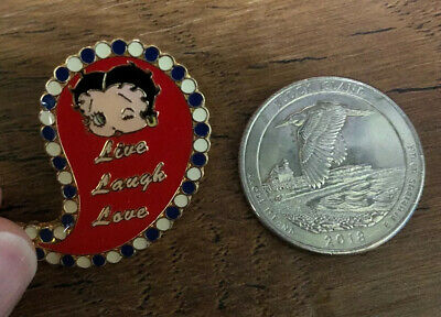 VINTAGE BETTY BOOP PIN Live Laugh Love 2012-2013