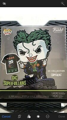 Funko POP! Tees size  M The Joker (Hush) 240 Exclusive DC Collection Jim Lee Box