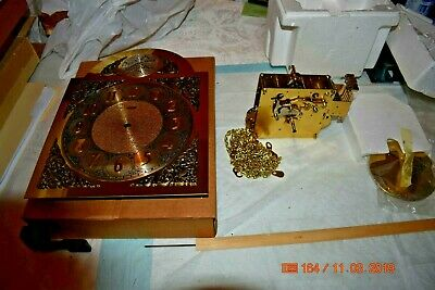 Emperor Grandfather clock kit, Hermle movement 451-030, Dial, pendulum and chime