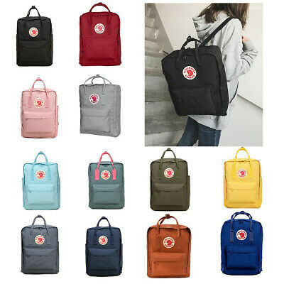 UK Waterproof Fjallraven Kanken0 Sport Backpack Canvas Travel Bag 7L/16L/20L