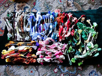 120+ skeins mainly DMC stranded embroidery thread