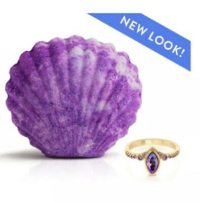 Fragrant Jewels Mermaid Fairytale Collection Bath Bomb. Size 8 Ring Inside
