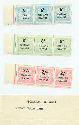 Tokelau Islands, surcharged first and second printings
