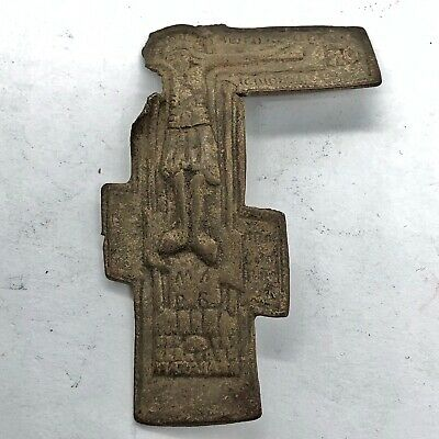 900-1600 AD RARE Medieval European Sacred Holy Relic Cross Russian Orthodox Old