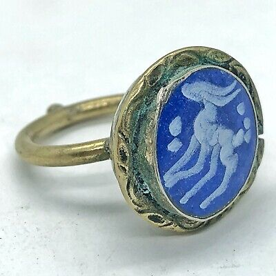 Middle Eastern Stone Intaglio Signet Ring Medieval Style Ottoman Islamic Antique