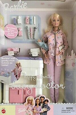 barbie happy family baby doctor doll new matell
