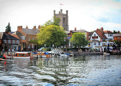 Henley On Thames boating river BLANK greeting card boat Christmas Xmas notelet