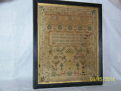 c1798 Sampler by *Ann Subbing* Letters Figures Needle Work