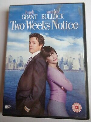 Two Weeks Notice (DVD, 2003) Hugh Grant, Sandra Bullock