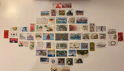 59 German Postage Stamps. A Mixed Bag. All Different. New Used. Germany SJ182