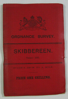 1901 Old OS Ordnance Survey Ireland One-Inch Second Edition Map 200 Skibbereen