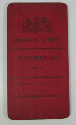 1899 Old OS Ordnance Survey Ireland One-Inch Second Edition Map 83 Inishbofin