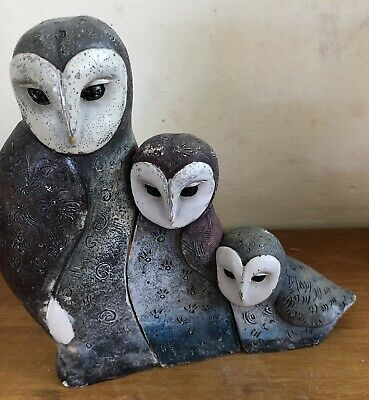 Latex Moulds for making this Lovely Set Of 3 Interlocking Owls